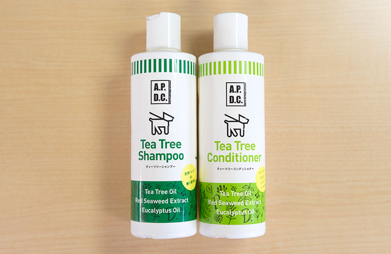 """Tea Tree Shampoo and Conditioner"" from the company called A.P.D.C."