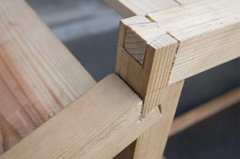 dovetail style for wooden slope