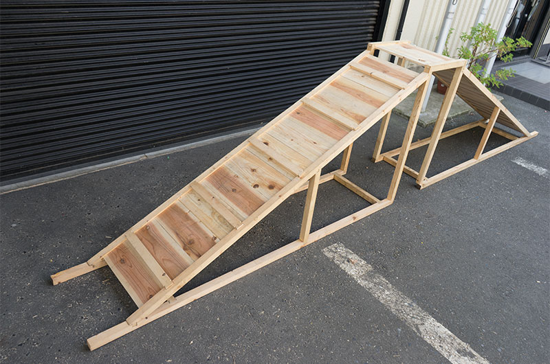 Wooden slope completed by D. I. Y.