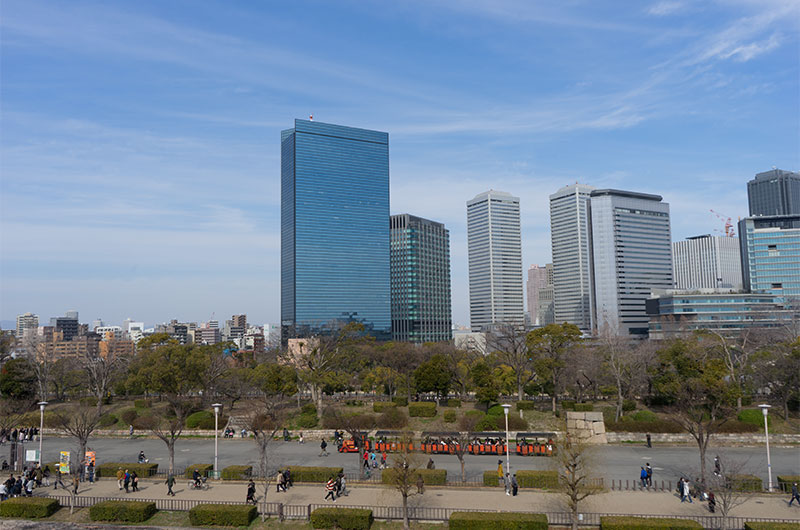 View from Osaka Castle Park