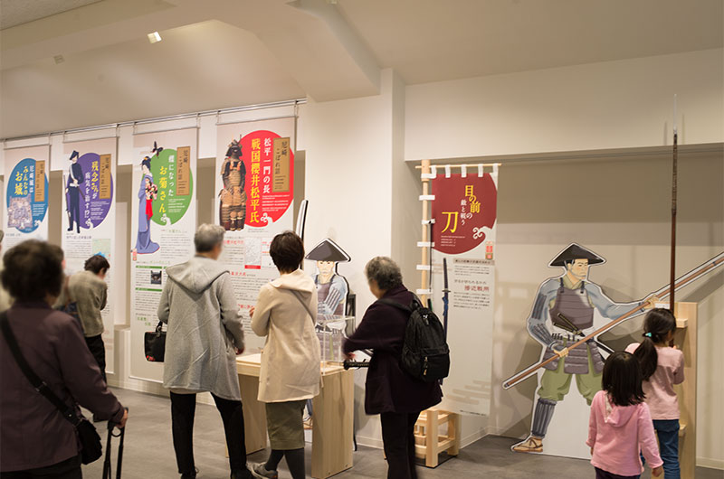 Information area at second floor of Amagasaki Castle
